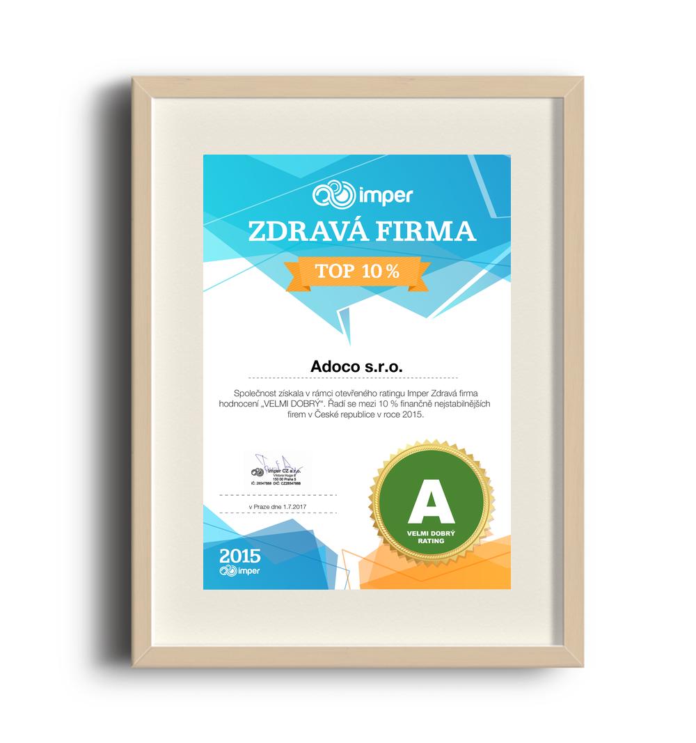 adoco certifikat